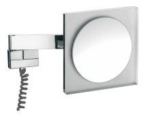 Emco Nástěnné kosmetické zrcátko s LED osvětlením 220 x 220 mm,s viditel. kabelem, 3x