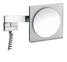Emco Nástěnné kosmetické zrcátko s LED osvětlením 220 x 220 mm, s viditel. kabelem,5x