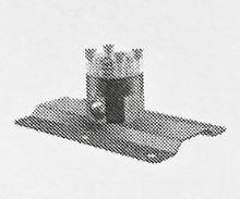 Podlahová část pro uchycení baterie VO021 a VO021BR do podlahy