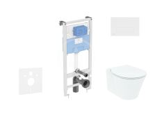 Ideal Standard ProSys Set předstěnové instalace, klozetu a sedátka  Connect Air, tlačítka Oleas M2, Aquablade, SoftClose, bílá