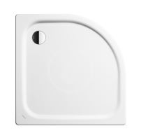 Kaldewei Advantage Čtvrtkruhová asymetrická sprchová vanička Zirkon 501-2, 900 x 750 mm, bílá - sprchová vanička, Perl-Effekt, polystyrénový nosič