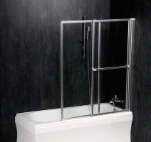 Polysan OLBIA pneumatická vanová zástěna 1230mm, stříbrný rám, čiré sklo