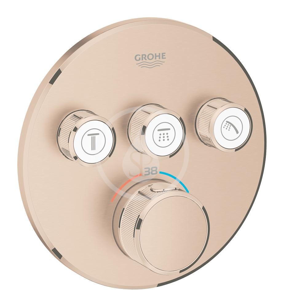 Grohe Grohtherm SmartControl Termostatická sprchová podomítková baterie, 3 ventily, kartáčovaný Warm Sunset