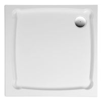 Gelco DIONA90 sprchová vanička z litého mramoru, čtverec 90x90x7,5cm