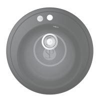 Grohe Dřezy Kompozitní dřez K200 s automatickým odtokem, průměr 510 mm, granitová černá