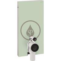 Geberit Monolith Sanitární modul pro stojící WC, 101 cm, boční přívod vody, mátově zelená