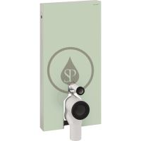 Geberit Monolith Sanitární modul pro stojící WC, 101 cm, spodní přívod vody, mátově zelená