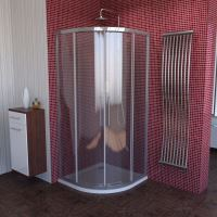 Polysan LUCIS LINE čtvrtkruhová sprchová zástěna, 900x900mm, R550, čiré sklo