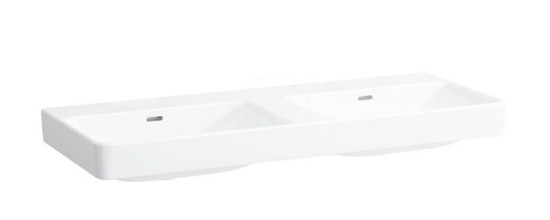 Laufen Pro S Dvojumyvadlo, 1200x465 mm, bez otvoru pro baterii, bílá