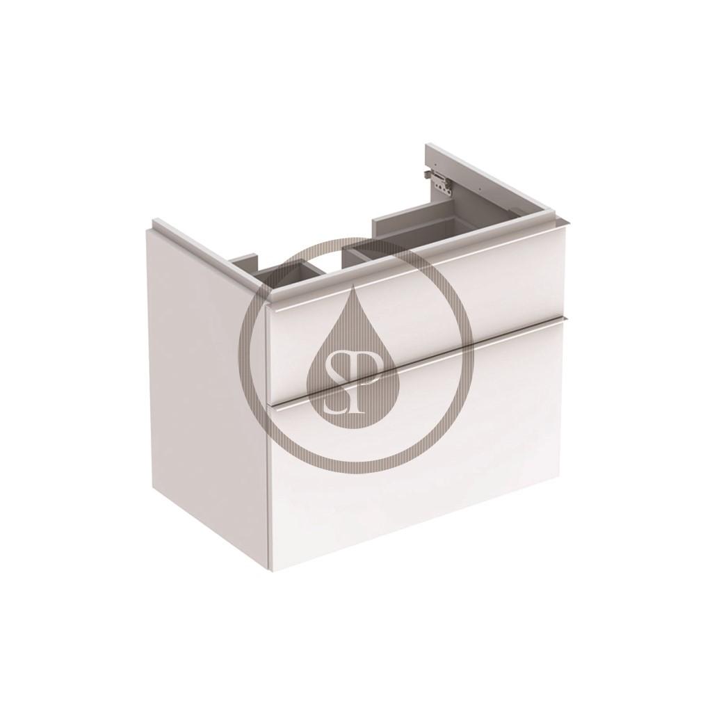 Geberit iCon Skříňka pod umyvadlo, 595x620x477 mm, bílá lesklá