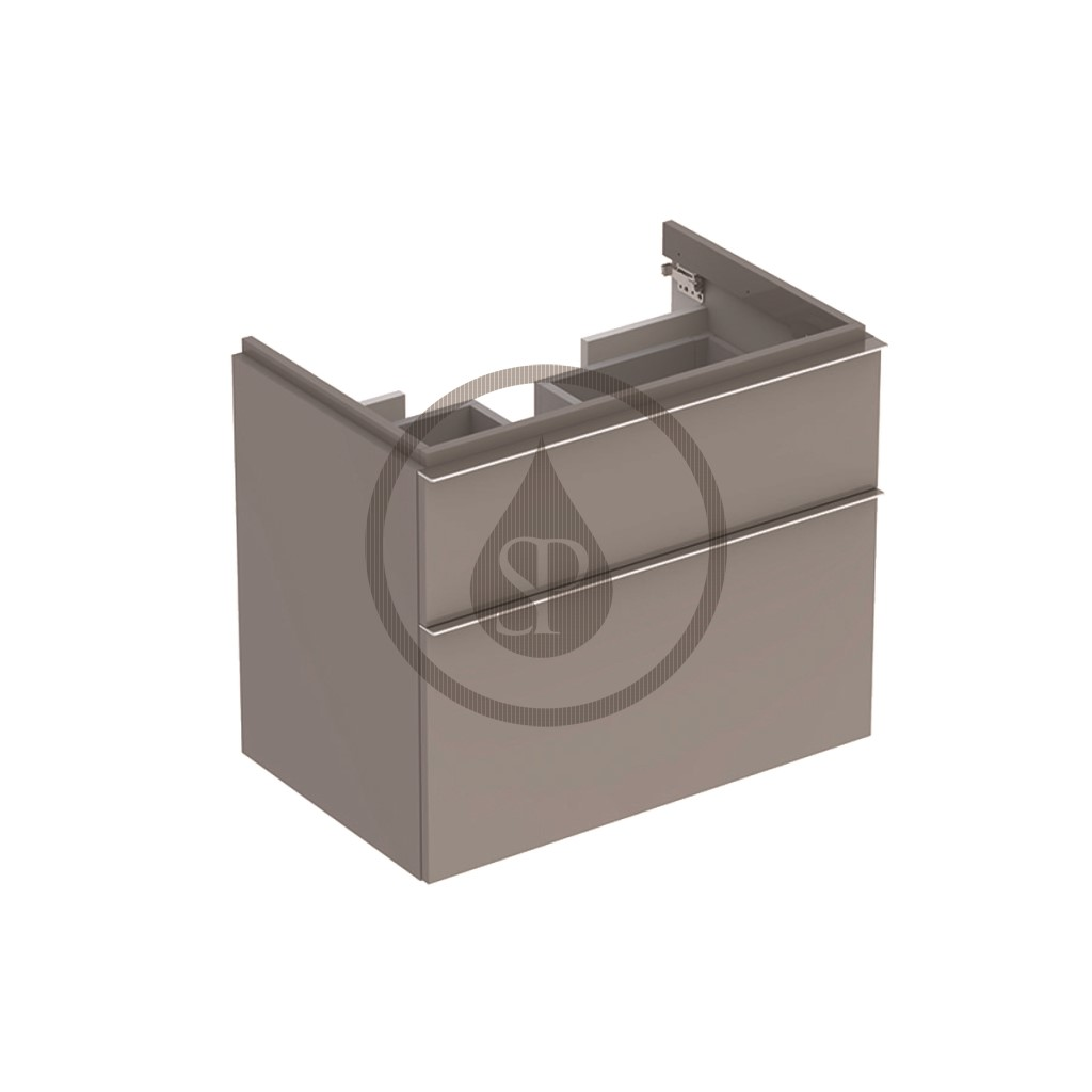 Geberit iCon Skříňka pod umyvadlo, 595x620x477 mm, platinová lesklá