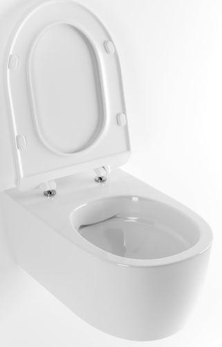 WC DOTO P-RIM 54 včetně SLIM slow-close sedátka 54,5X36 cm