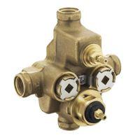 """centrální termostatický podomítkový ventil 3/4"""" s uzavíracím ventilem"""