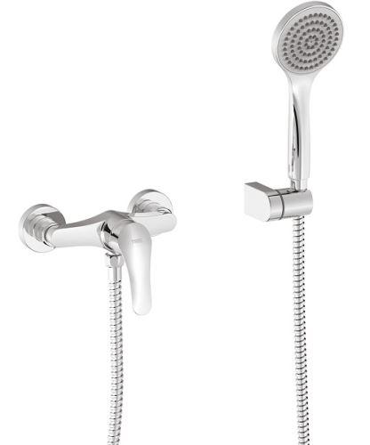 TRES B Páková nástěnná sprchová baterie vč. příslušenství, chrom