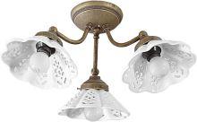 Sapho NAPOLI stropní svítidlo, 3xE14,40W, 230V, keramické stínítko, bronz