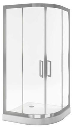 Sprchový kout SERIA 600 90X90x195 cm, čtvrtkruhový posuvný