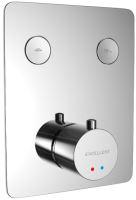Podomítková termostatická baterie KROTOS 15x19 cm, vana/sprcha chrome