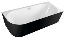 SUSSI R volně stojící vana litý mramor 160x70x49,5cm, bílá