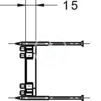 Hansa Bluebox Prodlužovací sada 15 mm pro podomítkový systém
