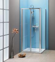 EASY LINE čtvercový sprchový kout 700x700mm, skládací dveře, L/P varianta, čiré sklo