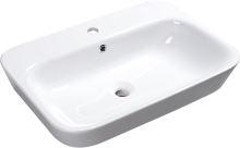 Sapho SAVANA keramické umyvadlo polozápustné, 65x17x45 cm