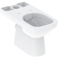 Geberit Selnova Square WC kombi mísa, zadní odpad, 680x350 mm, Rimfree, bílá