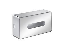 Emco Loft kosmetický box na papírové kapesníky, chrom