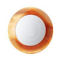 Laufen Kartell Zrcadlo v rámu, průměr 780 mm, oranžová