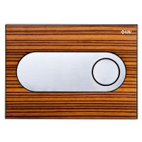 Tlačítko LIV ZIRCON dřevo zebrano