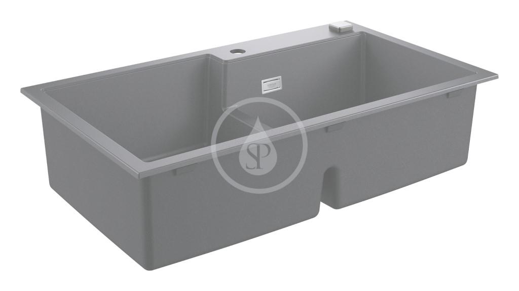 Grohe Dřezy Kompozitní dřez K500 s automatickým odtokem, 860x500 mm, granitová černá