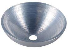 Sapho MURANO SILVER skleněné umyvadlo kulaté 40x13 cm, stříbrná