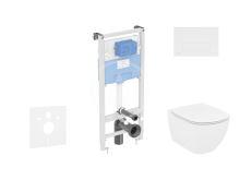 Ideal Standard ProSys Set předstěnové instalace, klozetu a sedátka  Tesi, tlačítka Oleas M2, bílá