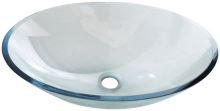 Sapho PURE skleněné umyvadlo oválné 52x37,5cm
