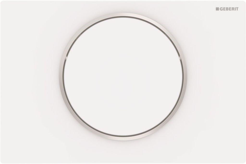 Geberit Sigma10 Ovládací tlačítko Sigma10, bílá mat/nerez
