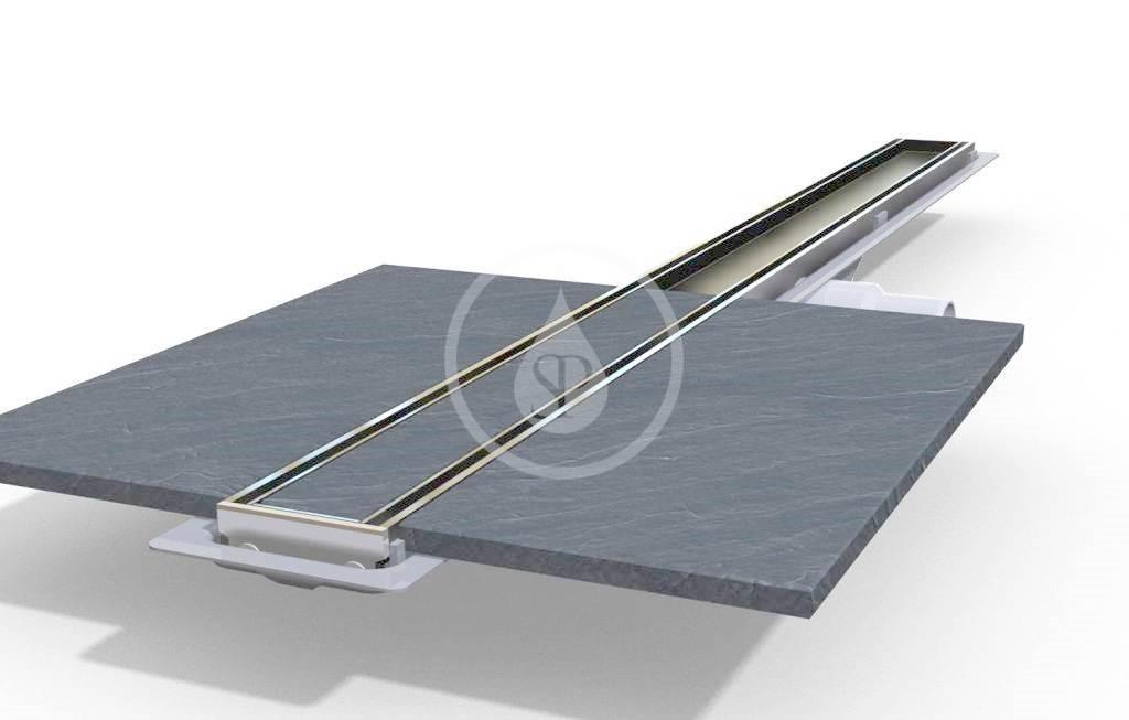 I-Drain Tile Nerezový rošt pro sprchový žlab, pro vložení dlažby, délka 800 mm