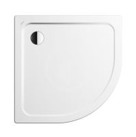 Kaldewei Ambiente Čtvrtkruhová sprchová vanička Arrondo 870-1, 900x900 mm, antislip, Perl-Effekt, bez polystyrénového nosiče, bílá