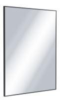 Zrcadlo Kuadro obdélníkové černé 80x60 cm