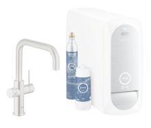 Grohe Blue Home Dřezová baterie Connected, s chladícím zařízením a filtrací, supersteel