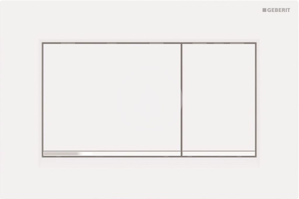 Geberit Sigma30 Ovládací tlačítko Sigma30, bílá mat/chrom