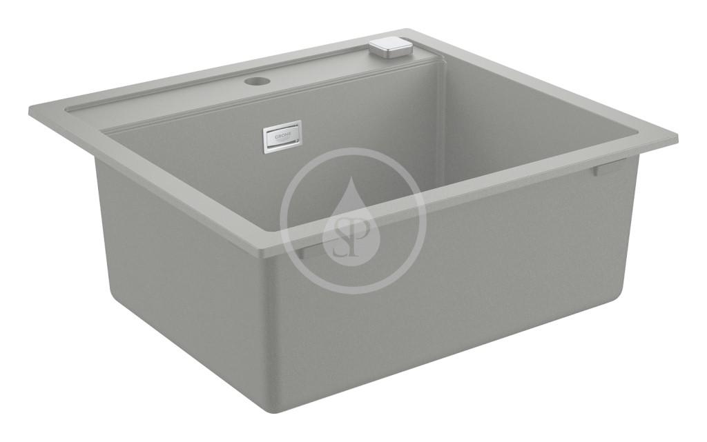 Grohe Dřezy Kompozitní dřez K700 s automatickým odtokem, 560x510 mm, granitová šedá