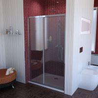 Polysan LUCIS LINE sprchové dveře 1300mm, čiré sklo