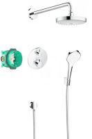 Hansgrohe Croma Select S Sprchový set 180 s termostatem Ecostat S, 2 proudy, chrom
