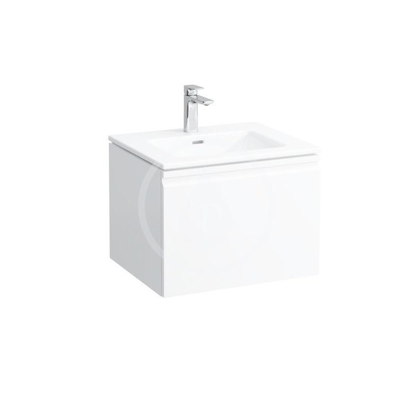 Laufen Pro S Skříňka s umyvadlem, 600x500 mm, 1 zásuvka, lesklá bílá