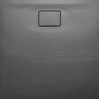 ACORA vanička z litého mramoru, čtverec 90x90x3,5cm, šedá, dekor kámen
