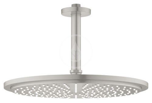 Grohe Rainshower Cosmopolitan Hlavová sprcha 310, sprchové rameno 142 mm, 1 proud, kartáčovaný tmavý grafit