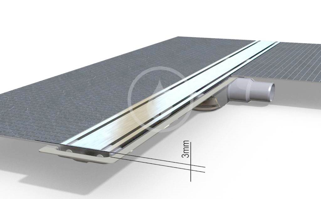 I-Drain Level-3 Nerezový rošt pro sprchový žlab Level-3 broušený, délka 1200 mm