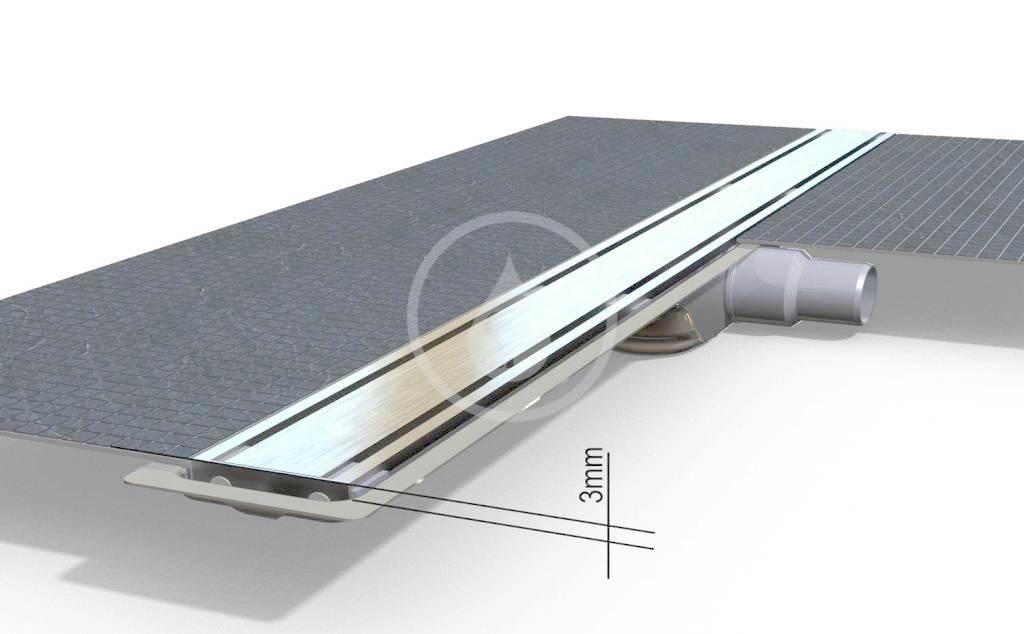 I-Drain Level-3 Nerezový rošt pro sprchový žlab Level-3 broušený, délka 600 mm