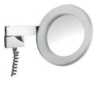 Emco Nástěnné kosmetické zrcátko s LED osvětlením 265 mm, s viditelným kabelem, 3x
