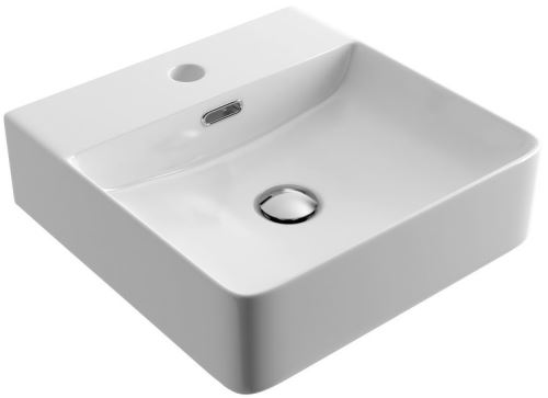 Umyvadlo na desku RIMA 42X42 cm bílé