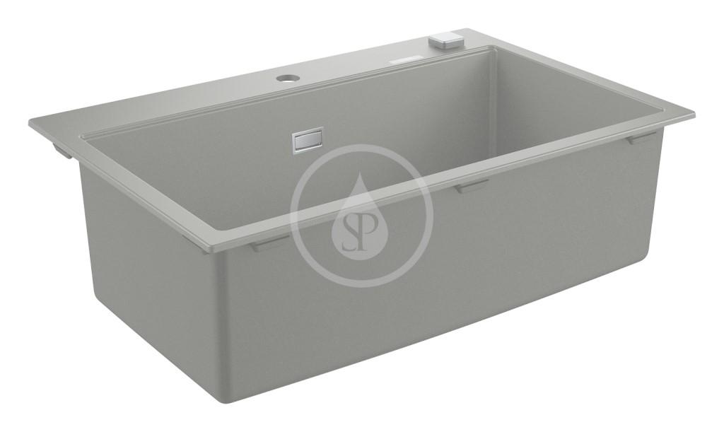 Grohe Dřezy Kompozitní dřez K700 s automatickým odtokem, 780x510 mm, granitová šedá